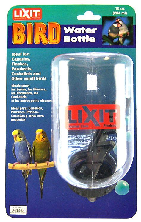 Lixit - Plastic Bird Water Bottle - 10 Oz