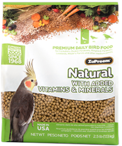 Zupreem Pellets Natural- Cockatiels