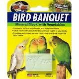 Zoo Med- Bird Banquet Mineral Block with Vegetables