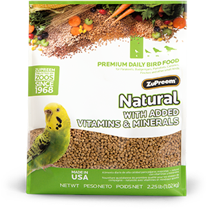 Zupreem Pellets Natural- Parakeet