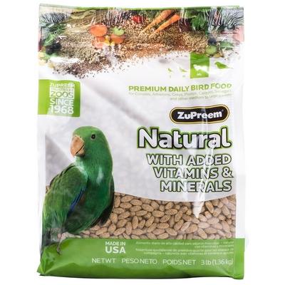 Zupreem Pellets Natural- Parrots & Conures