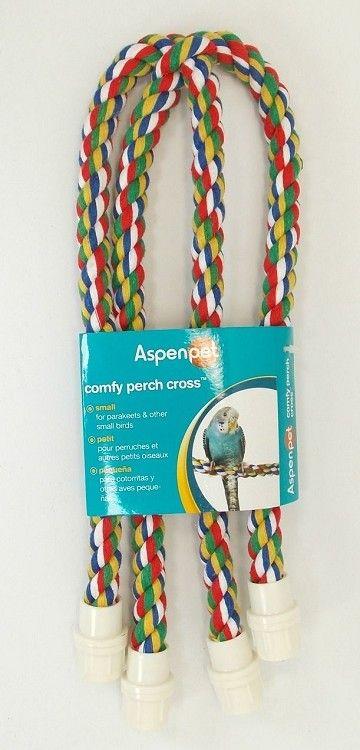 Comfy Perch Cross - 4-way Rope Perch Small