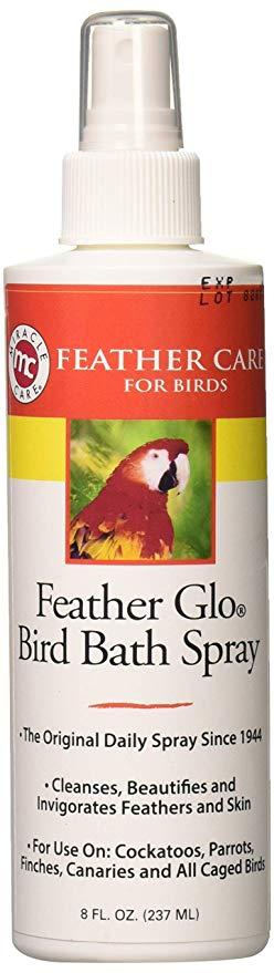 Feather Glo Bird Bath Spray 8 FL OZ