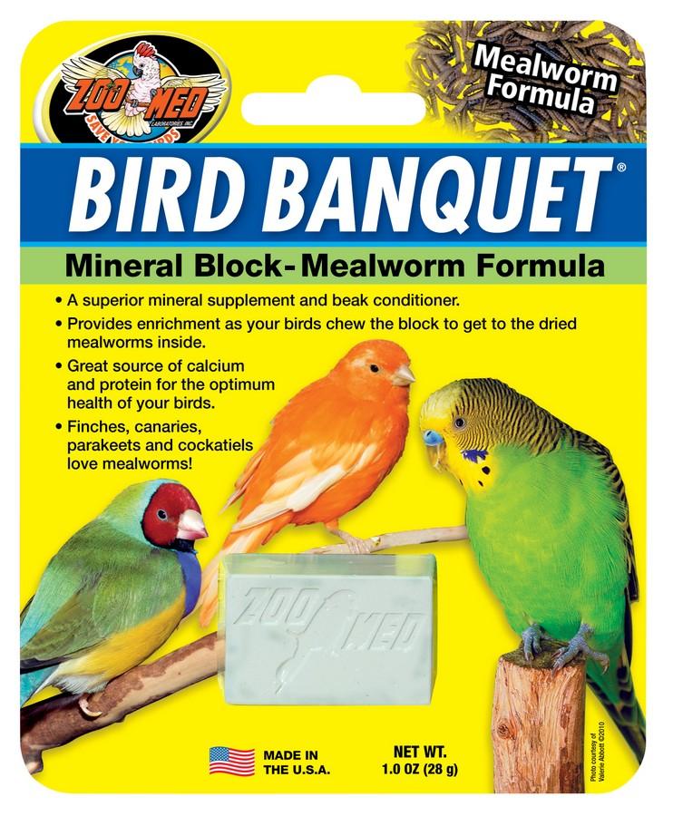 Zoo Med- Bird Banquet Mineral Block Mealworm Formula