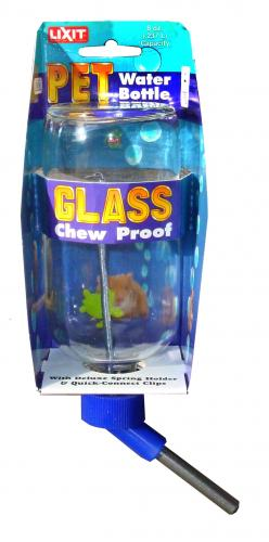Lixit  Glass Chew Proof Water Bottle 16 Oz